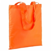 Borsa shopper nylon giallo arancio fluorescente 18123 07